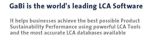 GaBi is the world's leading LCA Software.